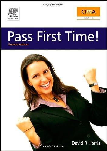 Book CIMA: Pass First Time!