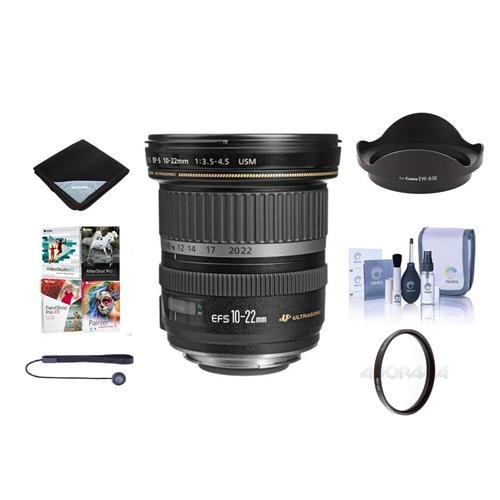 Canon EF - S 10 – 22 mm f / 3.5 – 4.5 USMレンズバンドル+ More # 9518 a002 NK   B00YTJR0PG
