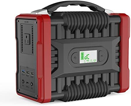 NTONPOWER Portable Power Station 222 Wh Solar Generator, 200W Peak 320W CPAP Backup Battery Pack Power Supply 110V AC Outlet, QC3.0 USB, 2 DC Ports, LED Flashlight for Camping, Home, Emergency