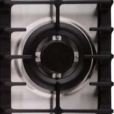 3,8kW mit Wok-Adapter aus Gu/ßeisen//Gas-kochstelle//Elektro//Gaskocher//Erdgas und Propangas Edelstahl Kochfeld 60cm Autark//Gas//Gaskochfeld mit 4 Hochwertgen Brennern//1x Dreikreis Turbo-Brenner