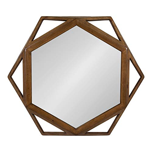 Kate and Laurel Cortland Wood Framed Accent Wall Mirror