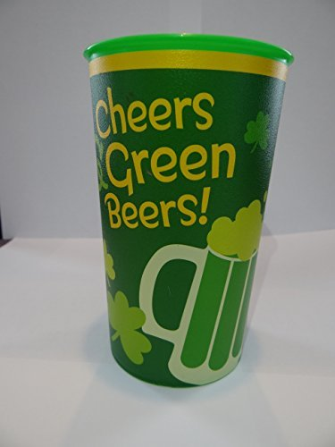 Hallmark St. Patrick's Day Cheers & Green Beers Re-usable Plastic Cups - 20oz - 4 Pack