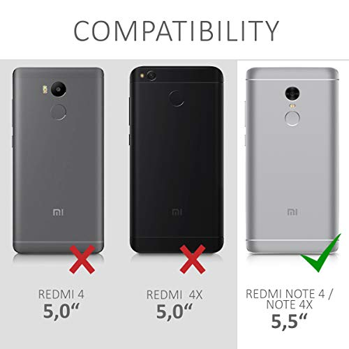 Kwmobile Xiaomi Redmi Note 4 / Note 4X Hülle - Komplette Abdeckung - INKL. Display Schutzglas - Funda para Xiaomi Redmi Note 4 / Note 4X