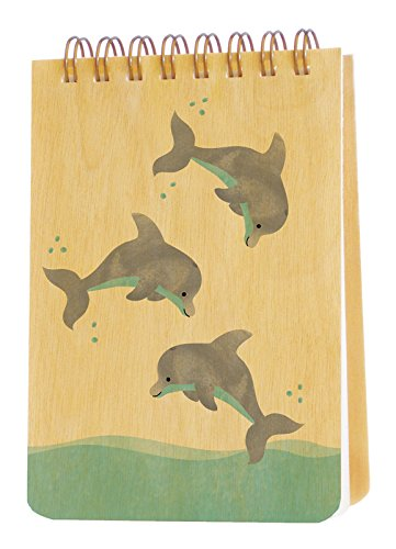 (Night Owl Paper Goods Dolphins Wood Jotter Notepad)