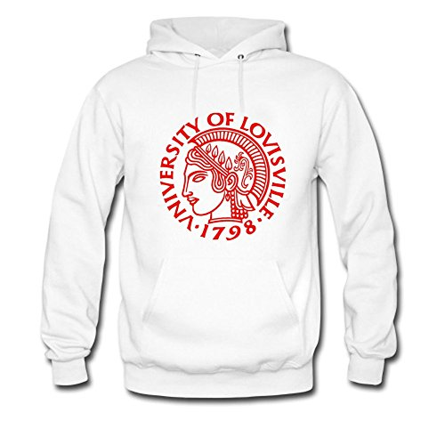 Yuanfang Nong men's University of Louisville Sweatshirt Hoodie XXXL White