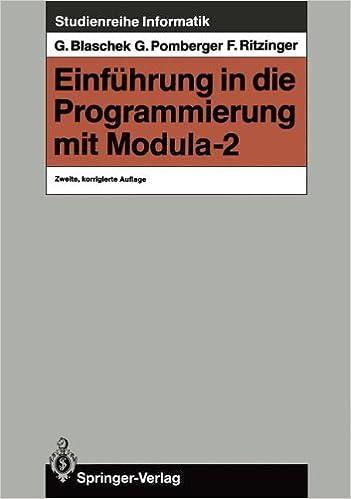Book Einführung in die Programmierung mit Modula-2 (Studienreihe Informatik) (German Edition)