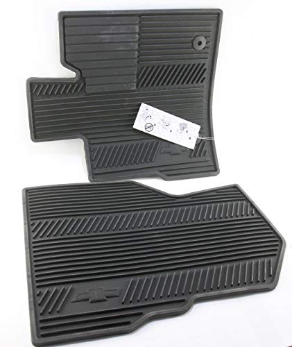 GM Accessories 84185474 Front Floor Liners in Jet Black with GMC Logo with Center Console
