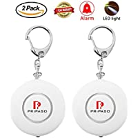 Personal Alarm 130db Emergency Personal Alarm Keychain/the Wolf Alarm/Elderly/ Safety/Attack/Protection/ Panic/Self Defense Electronic Device with Pripaso,As a Bag Decoration (2 Pack,White)