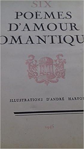 Amazonfr Six Poèmes Damour Romantiques Le Lac A