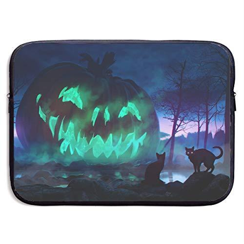 13-15 Inch Laptop Sleeve Cat Halloween Jack-o'-Lantern Night