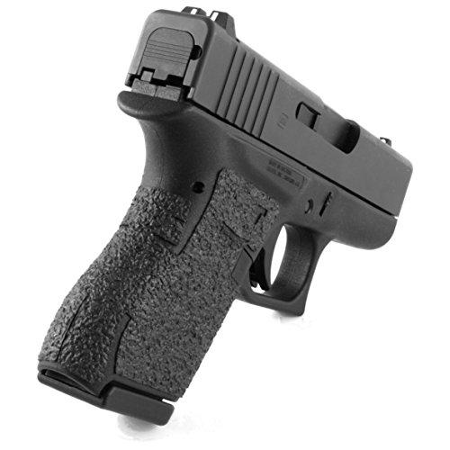 TALON Grips 100R Rear Wrap Rubber Grip for Glock 43, Black Rubber, Left/Right
