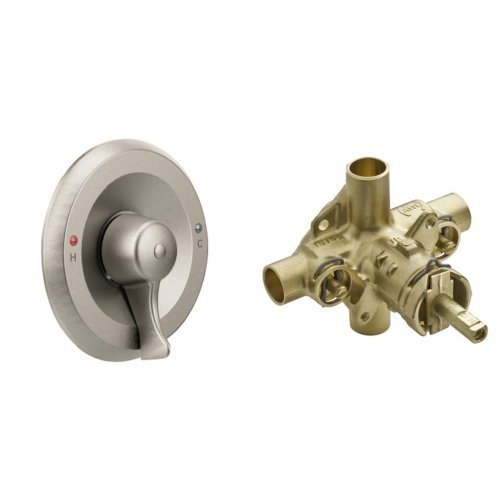 Moen T8370CBN-8371HD Commercial Classic Posi-Temp All-Metal Trim Kits with Valve, Classic Brushed Nickel