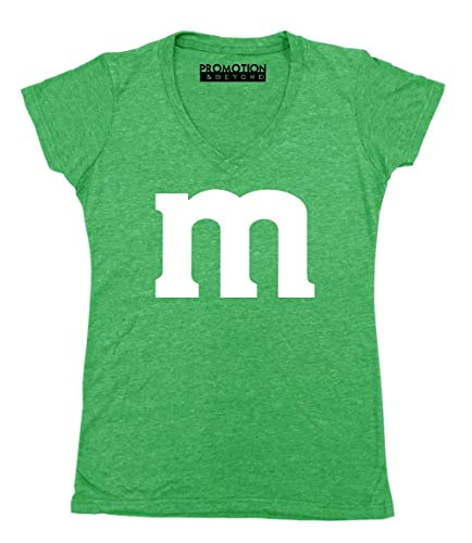 Promotion & Beyond M Halloween Team Costume Funny Party Women's V-Neck, 2XL, Heather Green ()