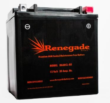 Amazon.com: Renegade RG30CL-BS 12 Volt 30 AH 500 CCA Premium PowerSport Battery OEM 278001866, 278001882: Automotive