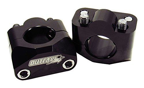 Outlaw Racing 12037 Universial Motorcycle Bar Handlebar Mounts Riser Clamp Oversize Kit 1-1/8 Black