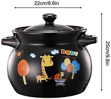 YTTZZ Keramik Casserole Hitzbeständige Suppentopf Keramik Ernährung Gesundheit Casserole Hitzbeständige gerahmter Binaural Suppentopf