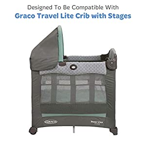 """Travel Lite Crib Sheets Compatible with Graco Travel Lite Crib with Stages – Fits Perfectly on 20"""" x 30"""" Mattress…"""