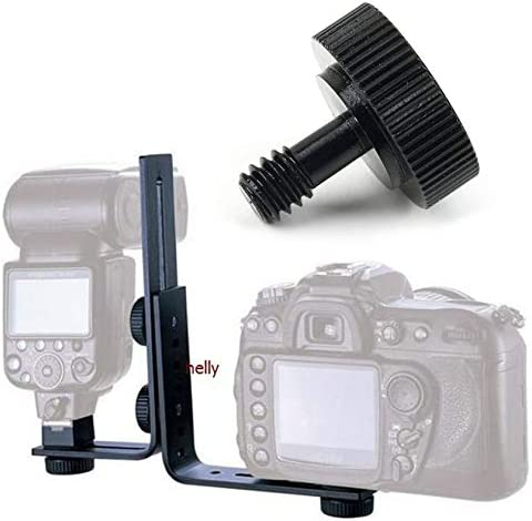 Short 1//4 Screw for Camera//Tripod//Flash Bracket Male to Female Adapter