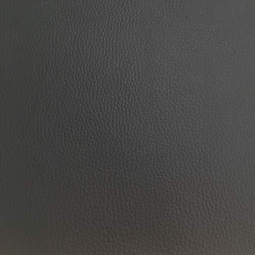 Tela por metros de polipiel para tapizar - Tapicería - Ancho 140 cm - Largo a elección de 50 en 50 cm | Gris antracita