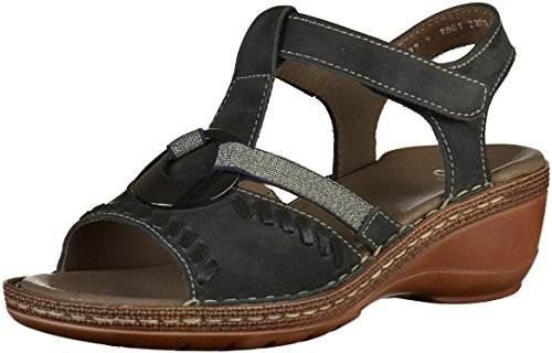 12 Women Sandals West Blue Key 37255 ara 8wxTPdBqT