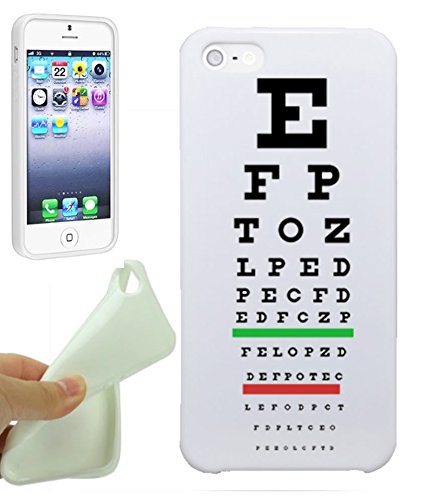 - Medical iPhone 5S Case By NickyPrints Medical Eye Vision Exam Optometry Chart, UNIQUE Designer Gloss Candy TPU Flexible Slim Case for iPhone 5 5S