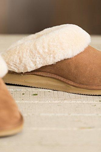Zapatillas De Piel De Oveja Merino Australianas Overland Alyssa Para Mujer Con Arco Castaño De Soporte