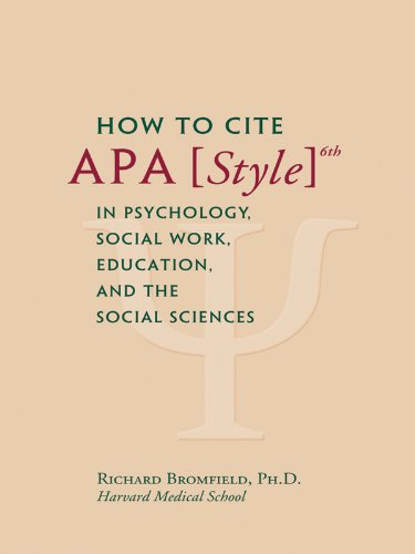 How to cite apa style 6th in psychology social work education and how to cite apa style 6th in psychology social work education and the kindle app ad ccuart Images