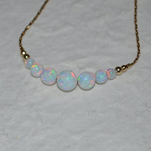 Opal Bracelet, Tiny Dot Bracelet, Small Opal Ball Gold Bracelet, white opal charm, dainty opal beads horizontal bar bracelet, opal jewelry