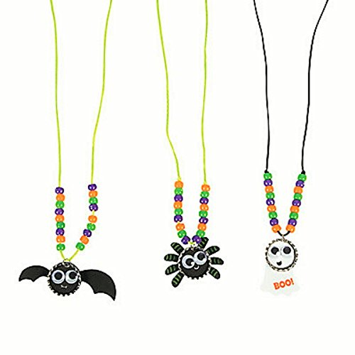 3 ~ Halloween Bottle Cap Necklace Craft Kits ~ New / Individually (Halloween Craft Activities For 2 Year Olds)