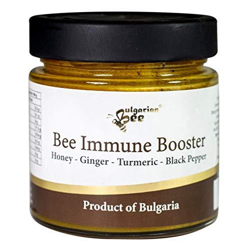 500 g Rauwe Honing met Gember, Kurkuma, Zwarte Peper, Onverwarmd, Natuurlijke Immunostimulator