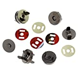 PEPPERLONELY Brand, 20 Sets Gunmetal Purse Magnetic Snap Clasps Closesure For Purse Handbag 18mm(6/8'')