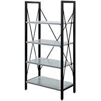 Convenience Concepts White Designs2Go Modern Carly Bookcase, Gray/Black