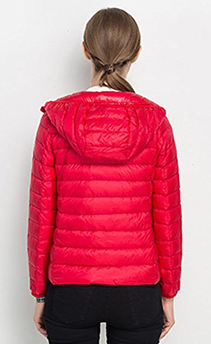 Lightweight Hooded Casual Jacket Winter Jacket Womens Santimon Down Short Packable IwS58naxq