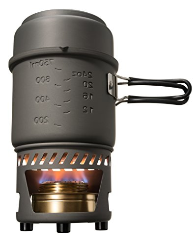 Esbit CS985HA 5-Piece Lightweight Trekking Cook Set with Brass Alcohol Burner Stove