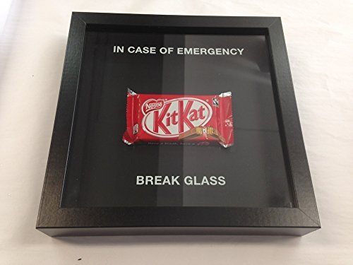 Price comparison product image In Case Of Emergency Break Glass Chocolate Kit Kat Encased Frame - Novelty Gift by Acrylics