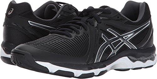 ASICS Women's Gel-Netburner Ballistic Volleyball Shoe, Black/Dark Grey/White, 11 Medium US