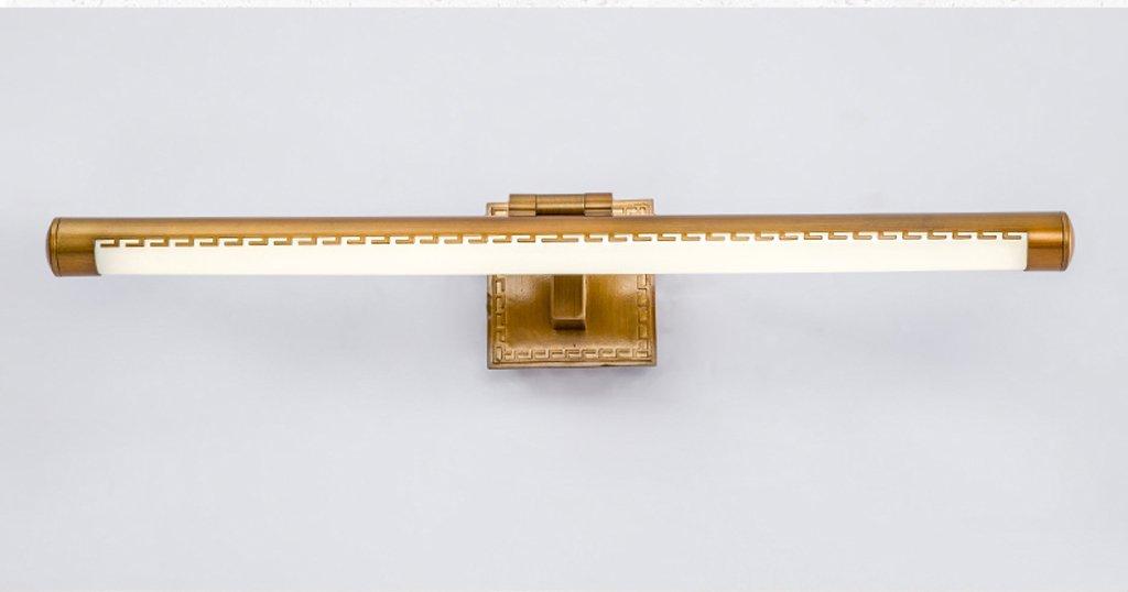Hyzb LED-Badezimmer-Spiegel-Schlafzimmer-Spiegel, der Wasserdichte Anti-Nebel-Farben-Lampen-Körper-justierbaren Winkel beleuchtet