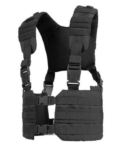Tactical Chest Vest (Condor MCR7 MOLLE Tactical Ronin Chest Rig Split Vest- Black MCR7-002)