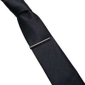 Honey Bear Mens Tie Clip Bar - Normal Size Stainless Steel For Business Wedding Gift,5.4cm (Black)