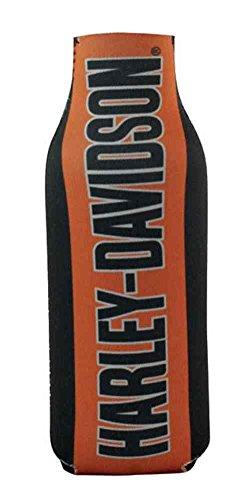 - Harley-Davidson Zippered Bottle Wrap Cooler H-D Script Orange & Black BZ02264