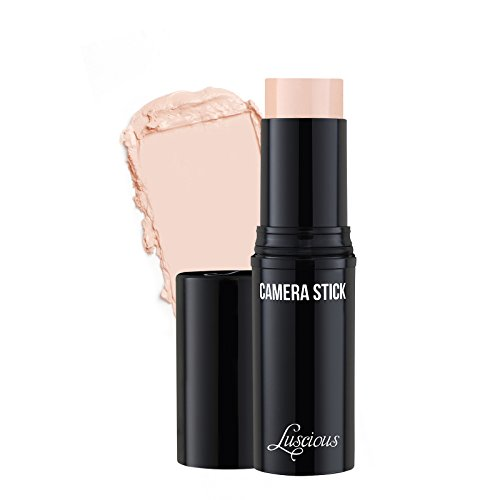 Camera Stick Foundation by Luscious Cosmetics | Full Coverage Cream Foundation | Super blendable & Hydrating Formula | Cruelty-Free and Vegan Makeup (00 Pink Porcelain)