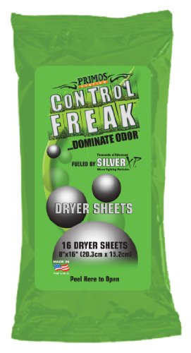 Primos Hunting Control Freak Scent Eliminating Dryer Sheet (Pack of 16)