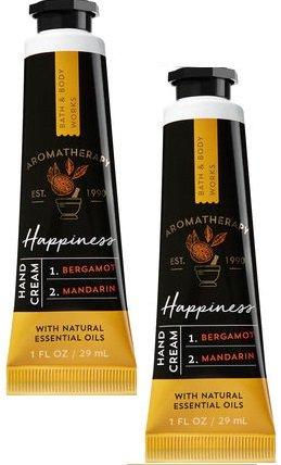 Mandarin Hand Cream (Bath and Body Works 2 Pack Aromatherapy Happiness Bergamot Mandarin Hand Cream. 1 oz)