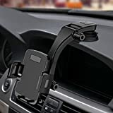 Miracase Cell Phone Holder for Car,Upgrade Dashboard & Windshield 360° Rotation One Button Car Phone Mount Holder Compatible iPhone Xs MAX/XS/XR/X/8plus/7/8/6,Galaxy S10/S9/S8,Google,Huawei(4'-6.5')