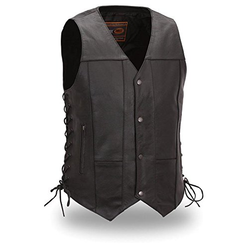 (First Manufacturing Men's 10-Pocket Vest (Black, Large))