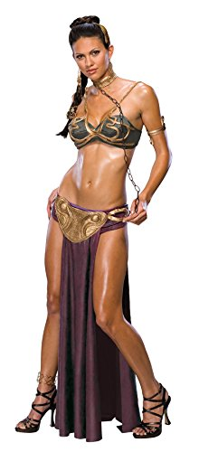 UHC Women's Princess Leia Slave Outfit Star Wars Sexy Halloween Adult Costume, S (4-6)]()