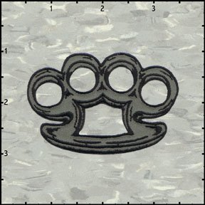 Knuckle Duster Embroidered Iron On Badge Applique Patch FD - 3 INCH