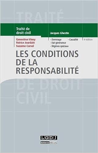 Amazonfr Traité De Droit Civil Les Conditions De La