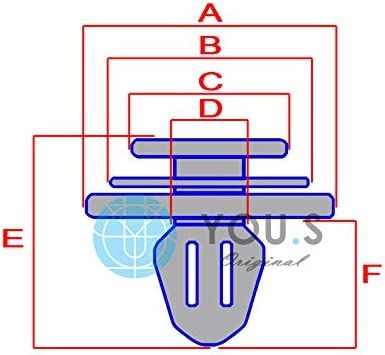 71775718 30 x you.s Originale Modanature Clip di Fissaggio Fori /Ø 9 mm