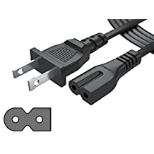 [UL LISTED] Pwr+ NEMA 1-15P to IEC320C7 Long 6 Ft (1.8 meter) 2 Prong Polarized Power Cord for Arris Router Modem; Vizio, Sharp Sanyo Emerson TV; Sony PlayStation 1 2 PS1 PS2; Bose Companion 3 5 Speaker Audio System AC Wall Cable